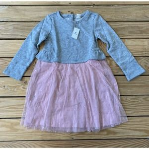 NWT Baby GAP Girl's Long Sleeve Tulle Dress Size 5